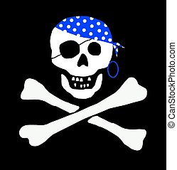 funny pirate skull sign