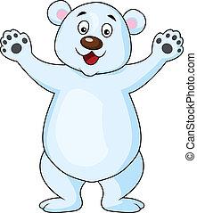 Funny Polar bear cartoon