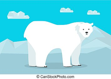 Funny Polar Bear Illustration