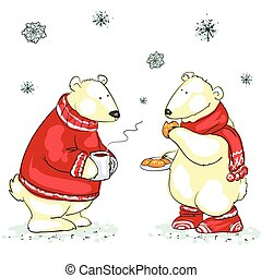 Funny polar bears