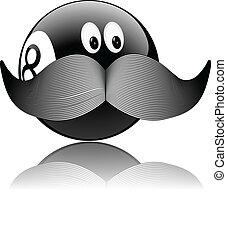 funny pool ball