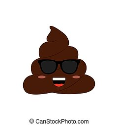 Funny Poop Face - abstract funny poop face, vector ...