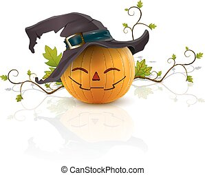pumpkin with a hat