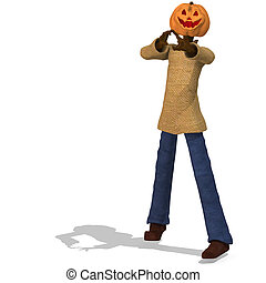 Funny Punpkin Man, perfect for HalloweenWith Clipping Path /...