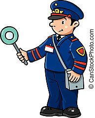 Funny railroader. Children vector illustration - Children...