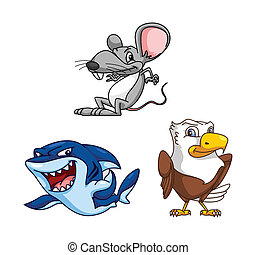 Funny Rat, Shark and Eagle