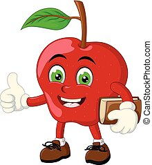Funny Red Apple Cartoon