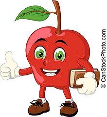 Funny Red Apple Cartoon