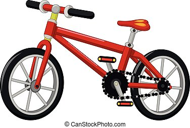 Funny Red Bicycle Cartoon