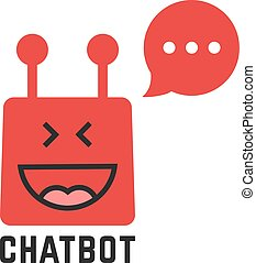 funny red chatbot icon