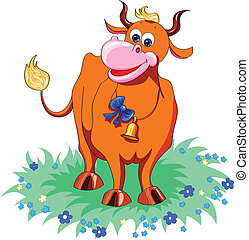 funny red cow