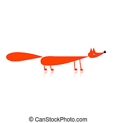 Funny red fox for your design