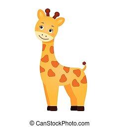 Funny red giraffe