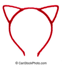funny red headband on white background.