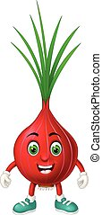 Funny Red Onion Cartoon