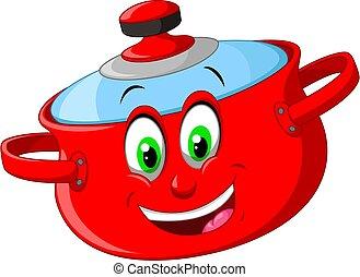 Funny Red Pan Cartoon
