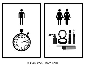Funny Restroom Sign - Women are using restrooms to beautify...