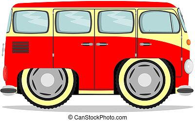 Funny retro van