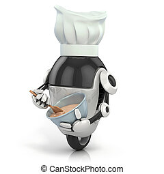 funny robot - cook