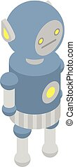 Funny robot icon, isometric style