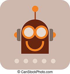 Funny Robot - vector icon