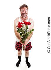 Funny Romantic Guy - Full Body Isolated