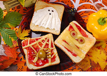 funny sandwiches for halloween