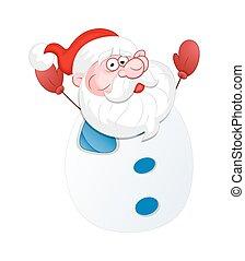Funny Santa Character