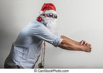funny santa claus dancing babbo natale - funny santa claus...