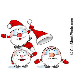 funny santa claus group cartoon