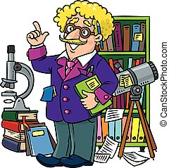 Funny scientist or inventor, Profesion ABC series