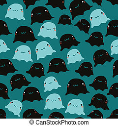 Funny sea seamless pattern