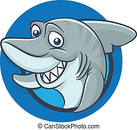 Funny shark mascot