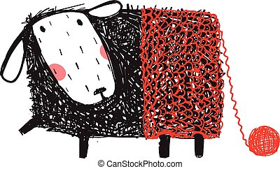 Funny Sheep Wearing Knitted Warm Pants
