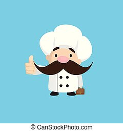 Funny Short Chef - Showing a Thumb Up
