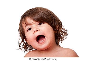 Funny singing baby toddler