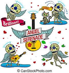 Funny skeletons. Angel Serenade