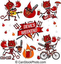 Funny skeletons. Devil's Weekend