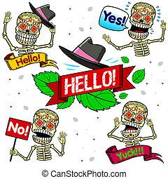 Funny skeletons. Emotions. Part One