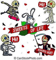 Funny skeletons. Sweets of Life