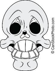 Funny Skull Illustration