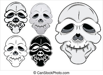 Funny Skull Vector Illustration