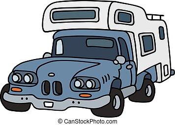 Funny small caravan