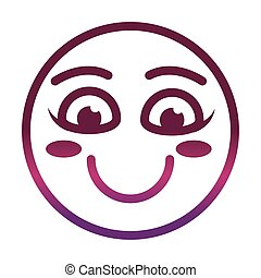 funny smiley emoticon face expression gradient style icon