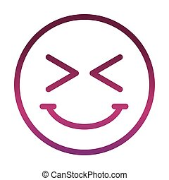funny smiley emoticon face expression mascot gradient style icon