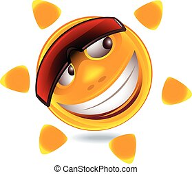 Funny smiley face