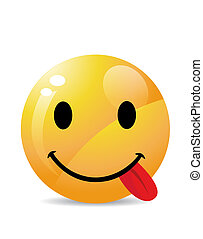 Funny Smiley on white