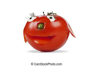funny smiling tomato