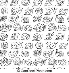 Funny snails, seamless pattern for your design. Vector ...