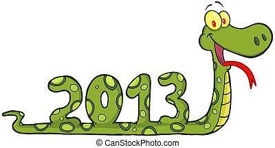 Funny Snake Cartoon Character